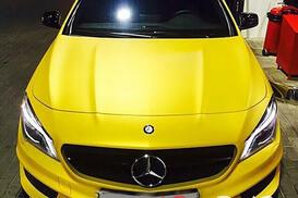 Mercedess-Benz yellow
