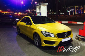 Mercedess-Benz yellow матовый винил