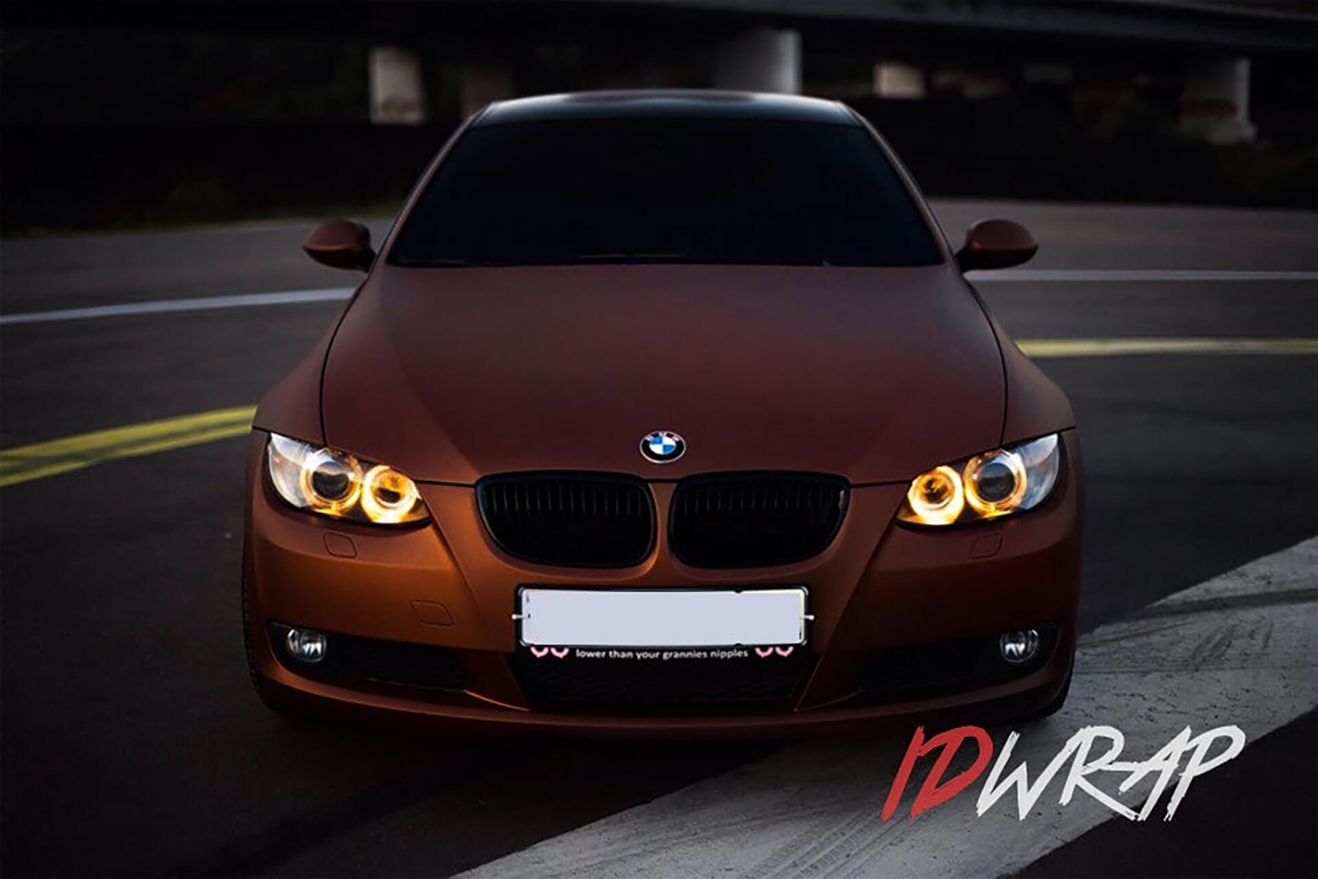 BMW ржавый матовый винил