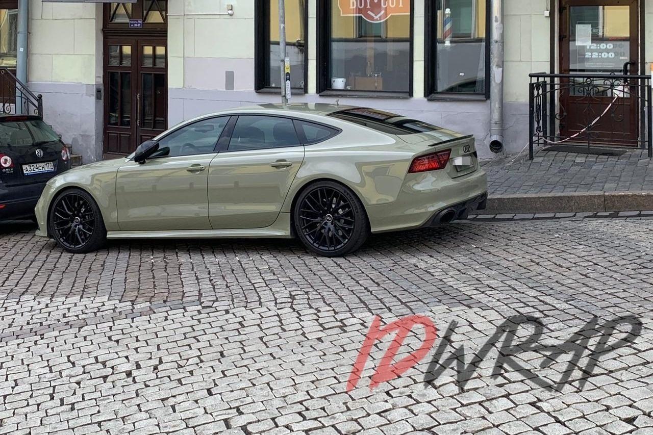 Audi A7 полная оклейка винилом