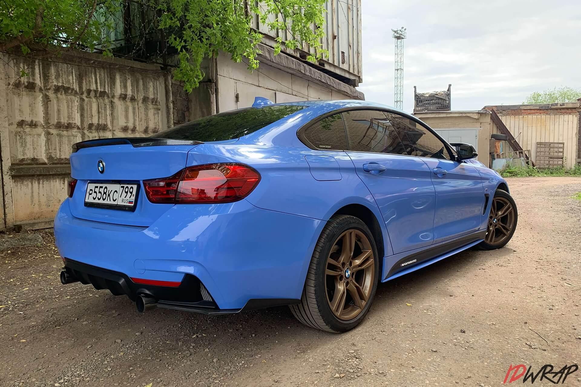 BMW голубой винил oracal 970