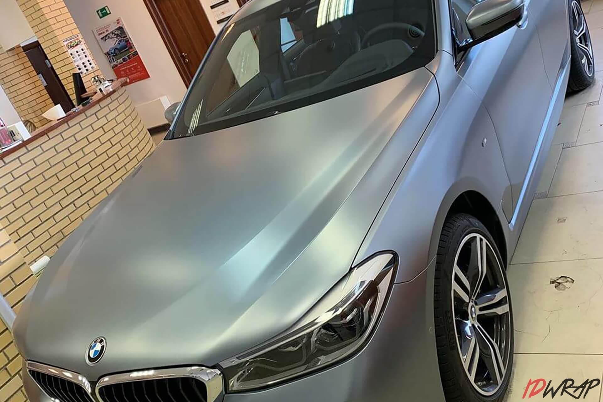 Антигравийная защита BMW GT6 матовой пленкой