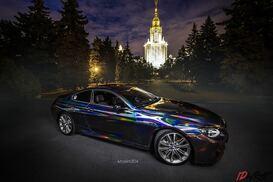 BMW 6 голографик-хром