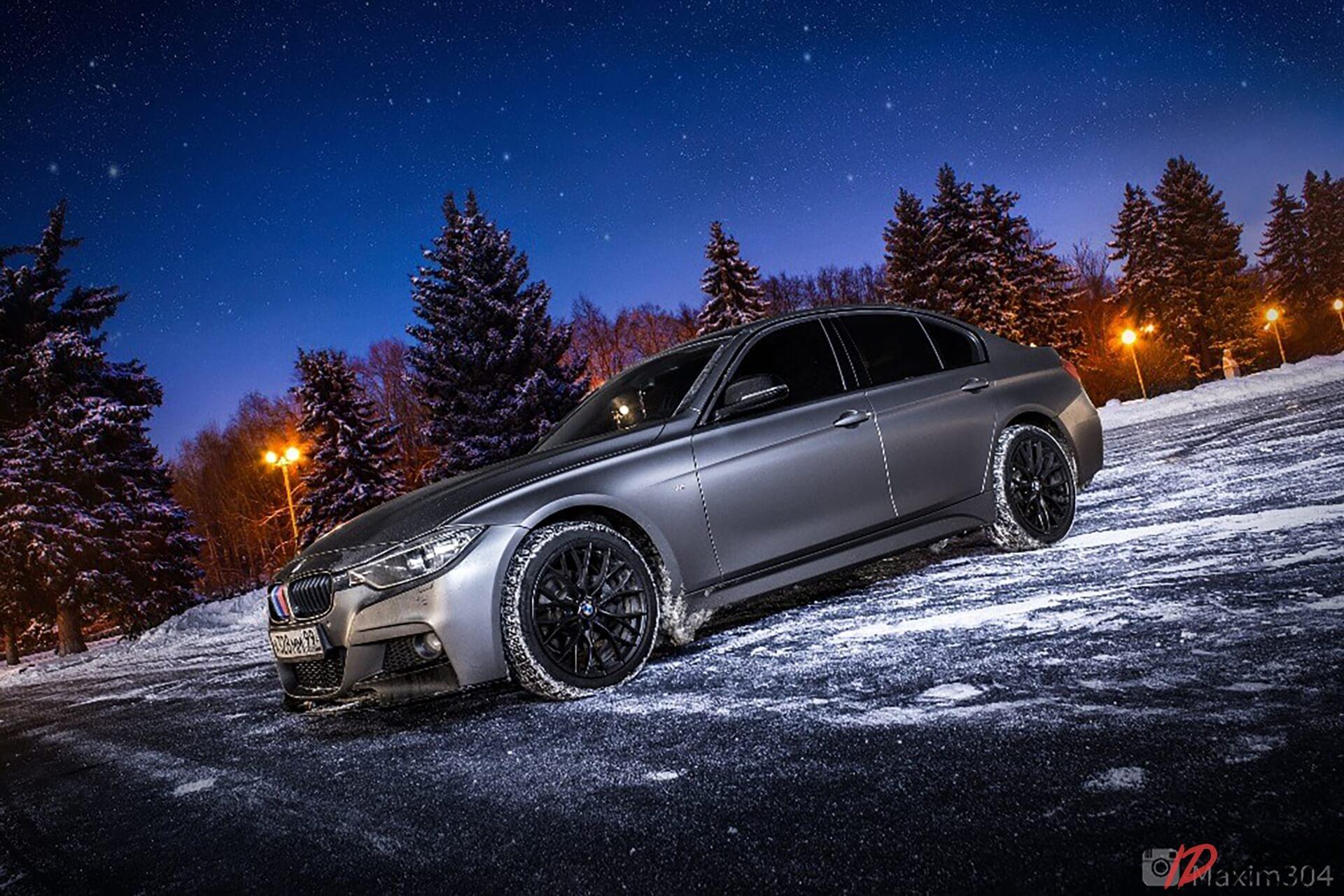 BMW оклеен в виниловую пленку Oracal 970 серии