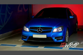 MB C250 матовый Blue Alluminium