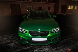 BMW X1 оклеен в 3m electric green