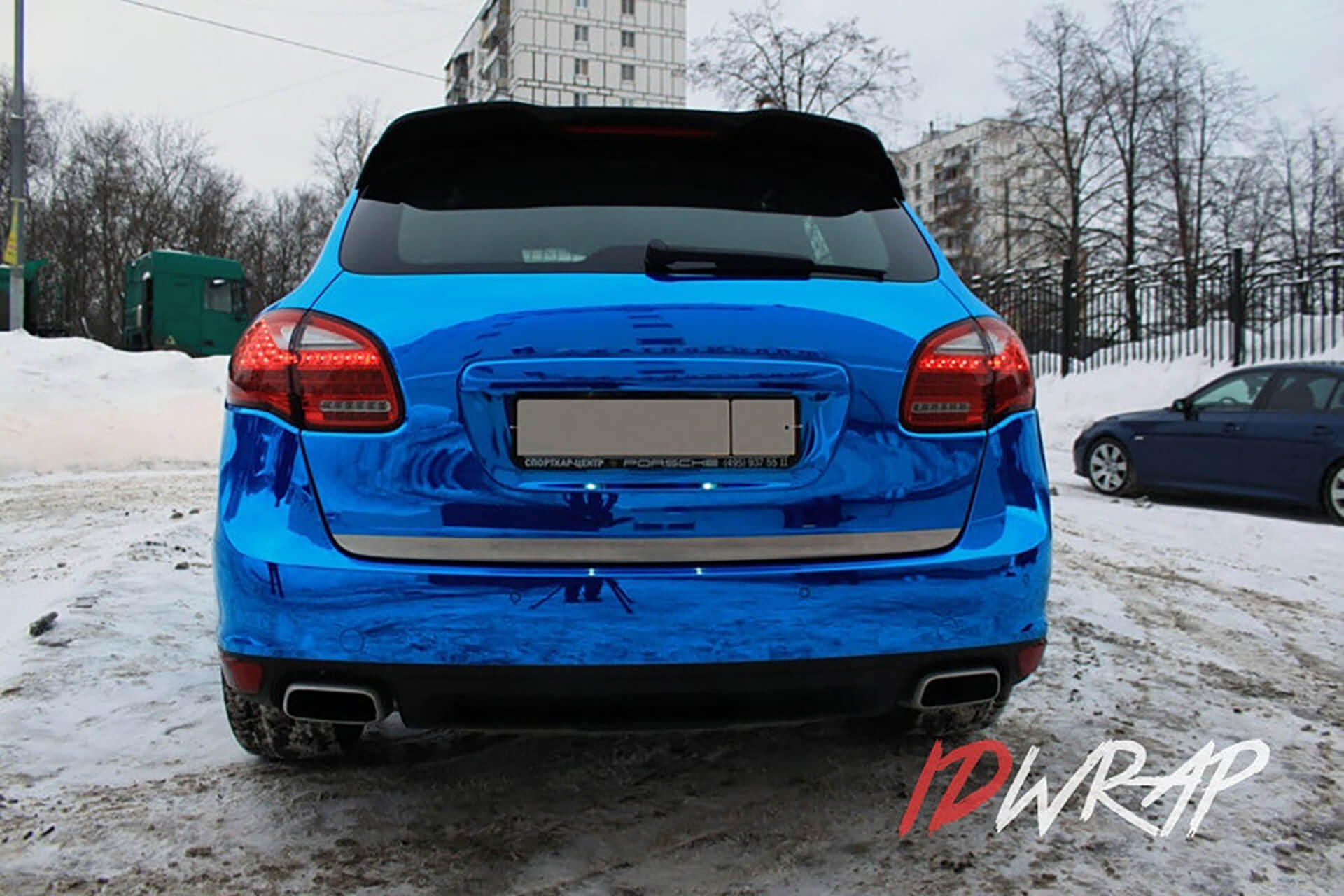 Porsche Cayenne синий хром