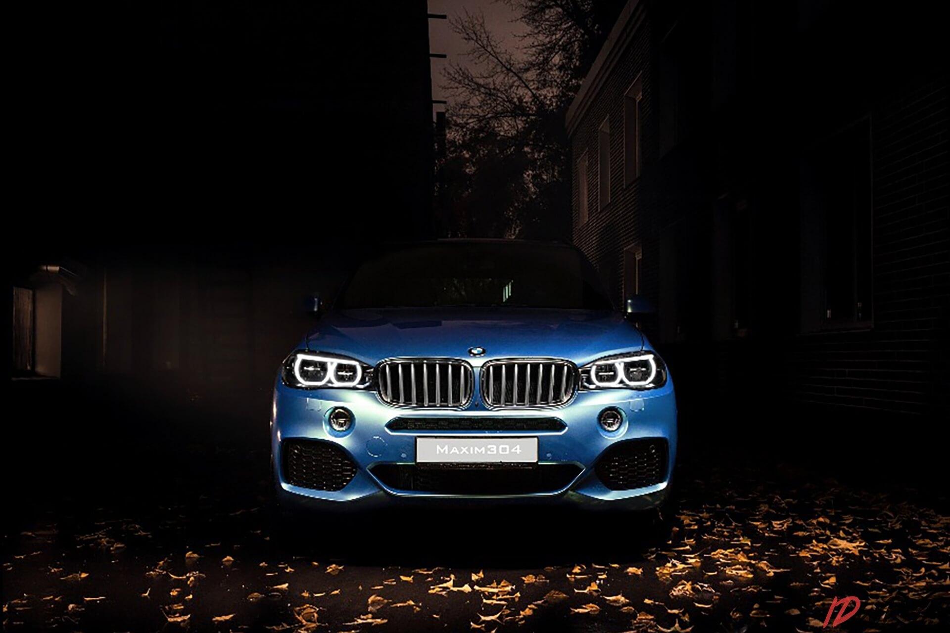 Оклейка BMW виниловой пленкой хамелеон