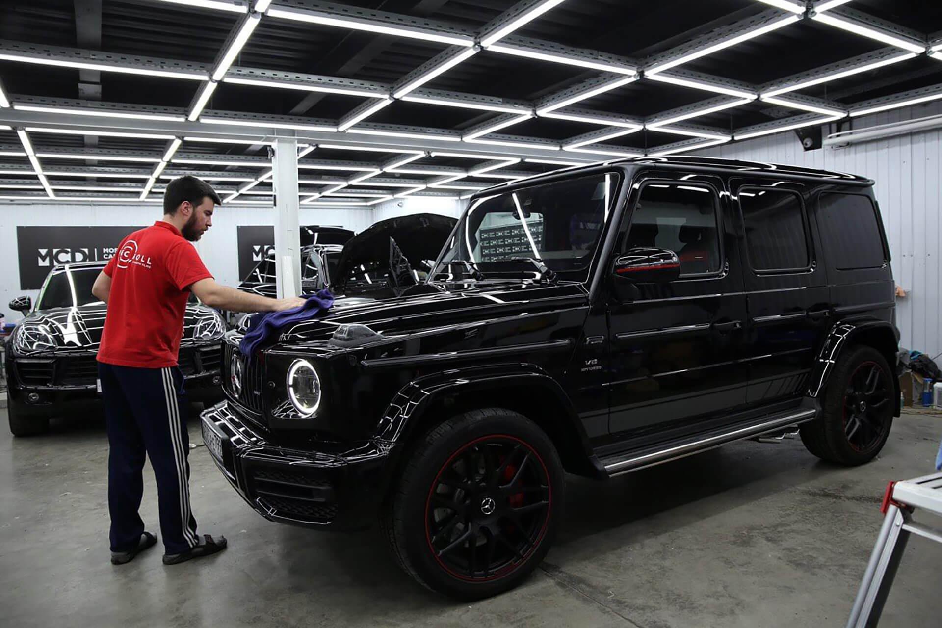 Антигравийная защита Mercedes Benz G-class