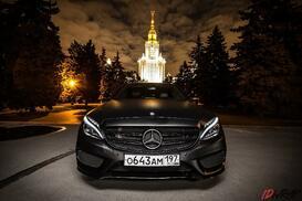 Черный матовый Mercedes в пленке KPMF