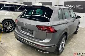 Оклейка VW tiguan пленкой+антихром