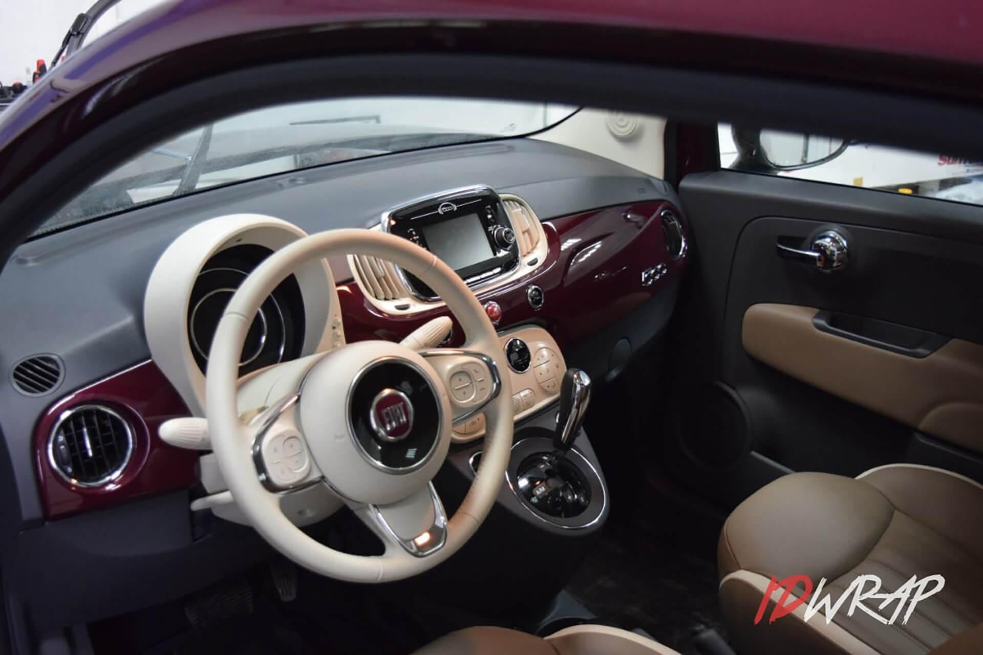 Антигравийная защита Fiat 500
